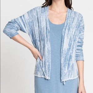 NWT Nic + Zoe Blue Haze Open Breeze Cardigan M